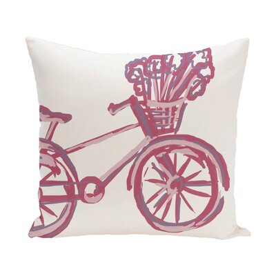 Chesser Outdoor Pillow Color: Pink Cheeks, Size: 16 H x 16 W x 1 D