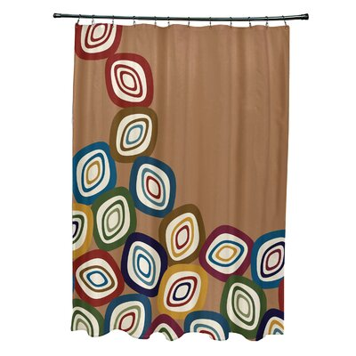Hippolyte Falling Leaves Geometric Print Shower Curtain