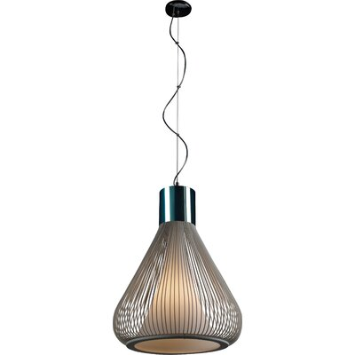 Hoedus 1-Light Pendant Size: 20.25 H x 17.5 W, Finish: White