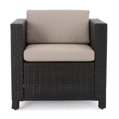 Sensabaugh 5 Piece Fire Pit Set with Cushions Frame Finish: Dark Brown