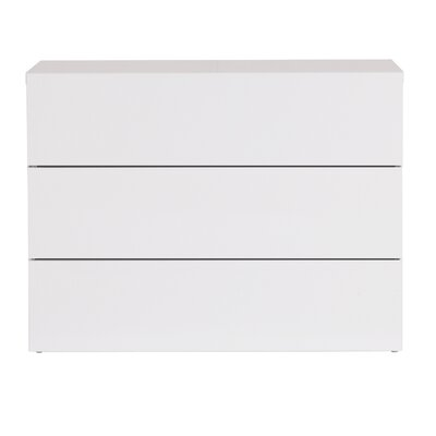 Horologium 3 Drawer Chest Color: Pure White