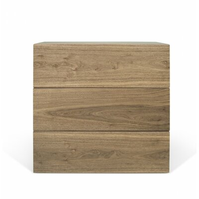 Horologium 3 Drawer Chest Color: Walnut