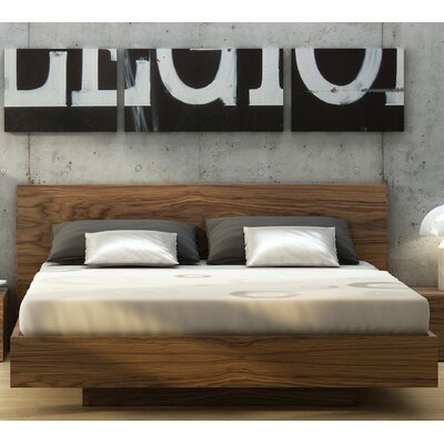 Horsham Platform Bed Size: King, Color: Walnut