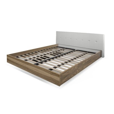 Horsham Upholstered Platform Bed Size: King, Frame Color: Walnut, Headboard Color: Grey