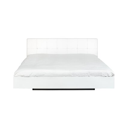 Horsham Upholstered Platform Bed Size: Queen, Frame Color: High Gloss White, Headboard Color: White
