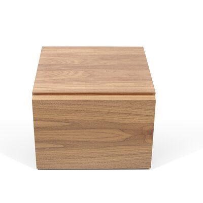 Horsham 1 Drawer Nightstand Color: Walnut