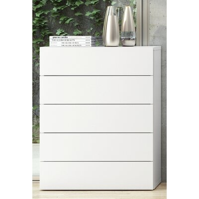 Horsham 5 Drawer Chest Color: Pure White