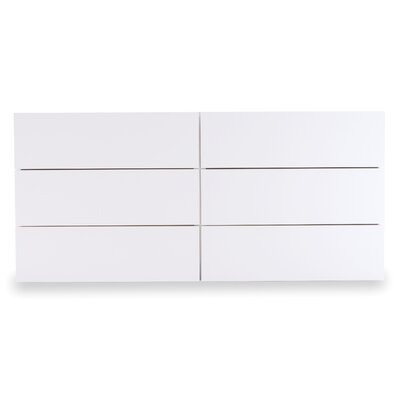 Horsham 6 Drawer Dresser Color: Pure White
