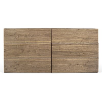 Horsham 6 Drawer Dresser Color: Walnut