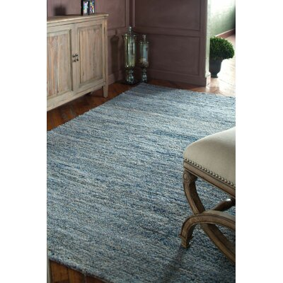 Hubbard Rescued Light Blue/Dark Blue/Gray Area Rug Rug Size: 5 x 8