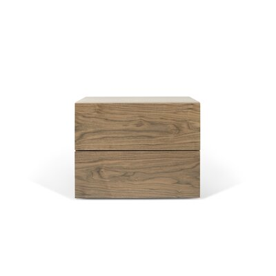 Horologium 2 Drawer Nightstand Color: Walnut