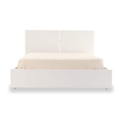 Horologium Platform Bed Size: California King, Finish: Pure White