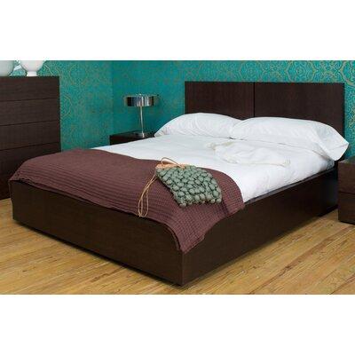 Horologium Platform Bed Size: Queen, Color: Oak