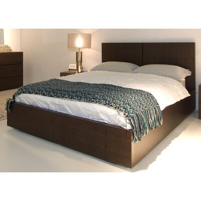 Horologium Platform Bed Size: King, Color: Oak