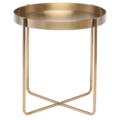 Goodlow End Table Color: Gold