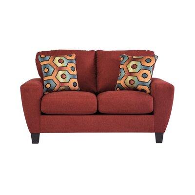 Metsahovi Loveseat Upholstery: Crimson