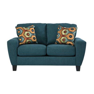 Hiltonia Loveseat Upholstery: Sky
