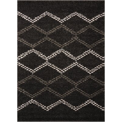Rushmere Black/White Area Rug Rug Size: 5 x 7