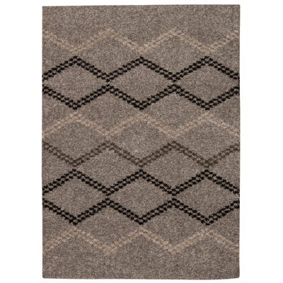 Rushmere Gray/Black Area Rug Rug Size: Rectangle 5 x 7