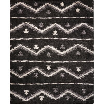 Rushmere Black/White Area Rug Rug Size: Rectangle 5 x 7