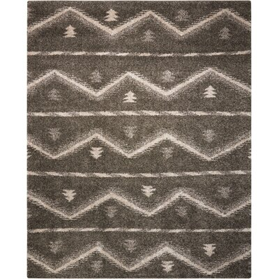 Rushmere Gray/White Area Rug Rug Size: Rectangle 8 x 10