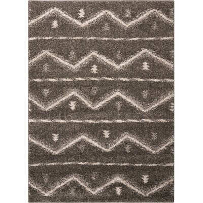 Rushmere Gray/White Area Rug Rug Size: 5 x 7
