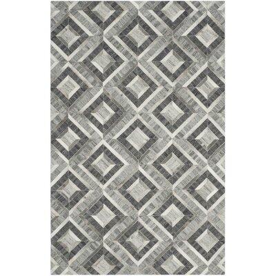 Sevastopol Hand-Woven Ivory/Dark Gray Area Rug Rug Size: 5 x 8