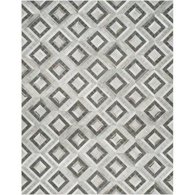 Sevastopol Hand-Woven Ivory/Dark Gray Area Rug Rug Size: 8 x 10
