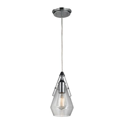 Second Avenue 1-Light Mini Pendant Finish: Polished Chrome