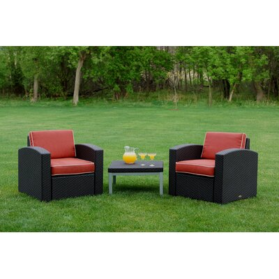 Loggins 3 Piece Deep Seating Group with Cushion