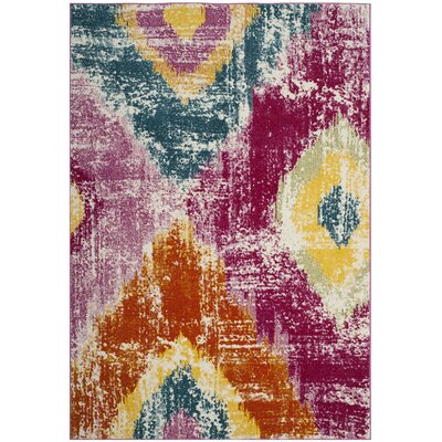 Greaney Pink Area Rug Rug Size: 53 x 76