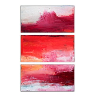 'Desert Triptych' 3 Piece Painting Print on Canvas Set