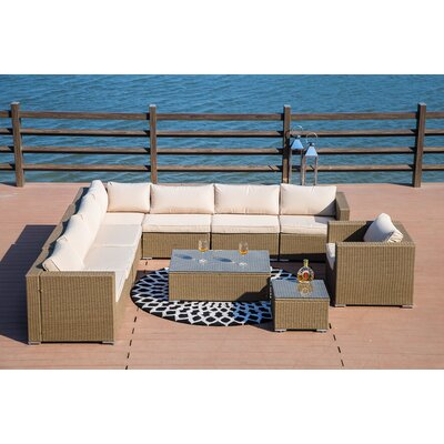 Vanlandingham 10 Piece Seating Group with Cushion