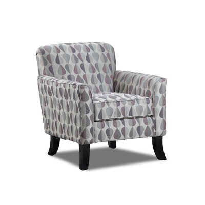 Steinber Simmons Upholstery Arm Chair Color: Plum