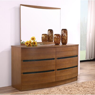 Carrabelle 6 Drawer Double Dresser Color: Teak
