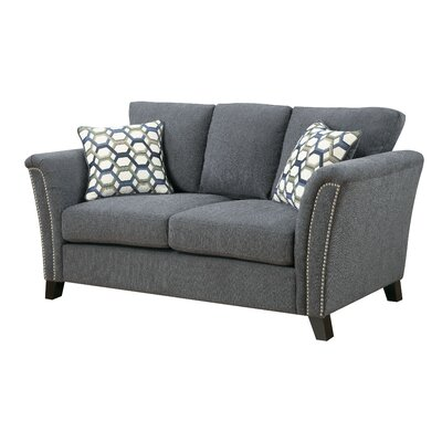 Pickens Loveseat Upholstery: Gray