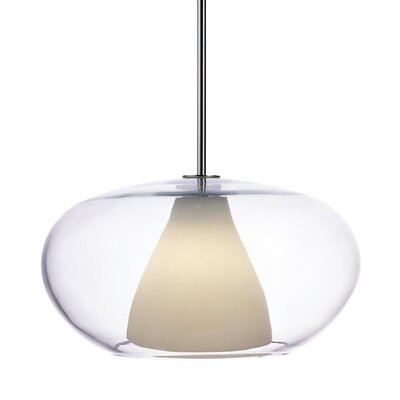 Irene Pendant with Clear/White Frosted Glass