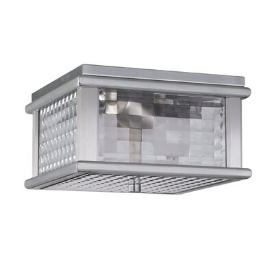 Olympia 2-Light Flush Mount Finish: Brushed Aluminum