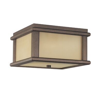 Olympia 2-Light Flush Mount Finish: Corinthian Bronze