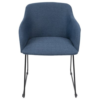 Mendon Arm Chair Upholstery: Blue
