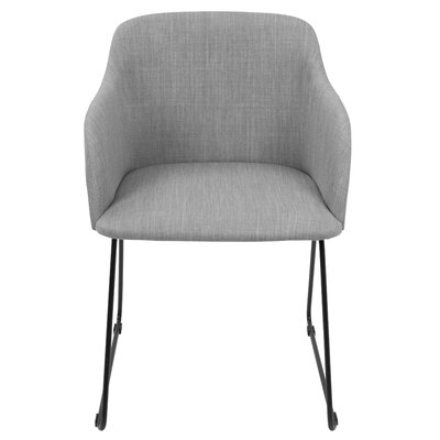 Mendon Arm Chair Upholstery: Light Gray