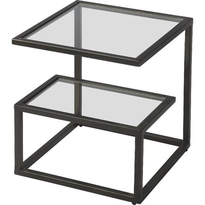 Alaimo Bunching End Table Color: Black