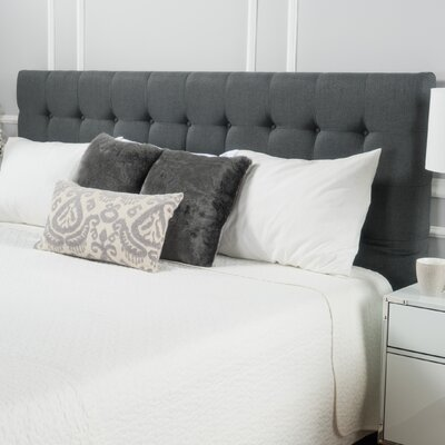 Ehmann King Upholstered Headboard Upholstery: Dark Gray