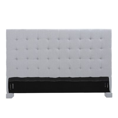 Ehmann King Upholstered Headboard Upholstery: Light Gray