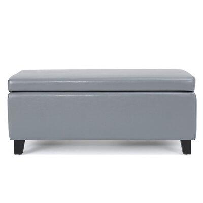 Bouldin Storage Ottoman Upholstery: Gray
