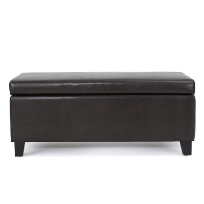 Bouldin Storage Ottoman Upholstery: Brown