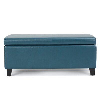 Bouldin Storage Ottoman Upholstery: Teal