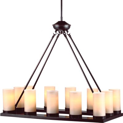 Warwick 12-Light Candle-Style Chandelier Bulb Type: 60 W A-19 Medium