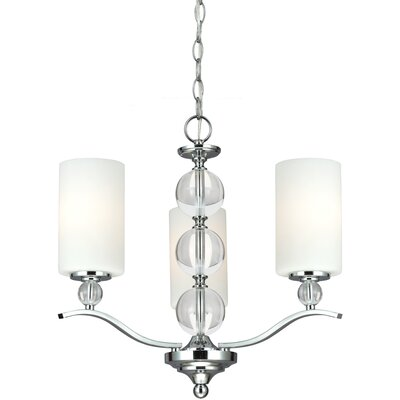Astoria 3-Light Shaded Chandelier Bulb Type: 100W A19 Medium