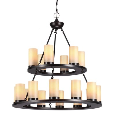 Carwile 18-Light Shaded Chandelier Bulb Type: 60W A19 Medium